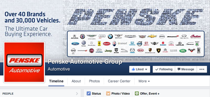 The Penske Automotive Group Has Joined the Facebook Community